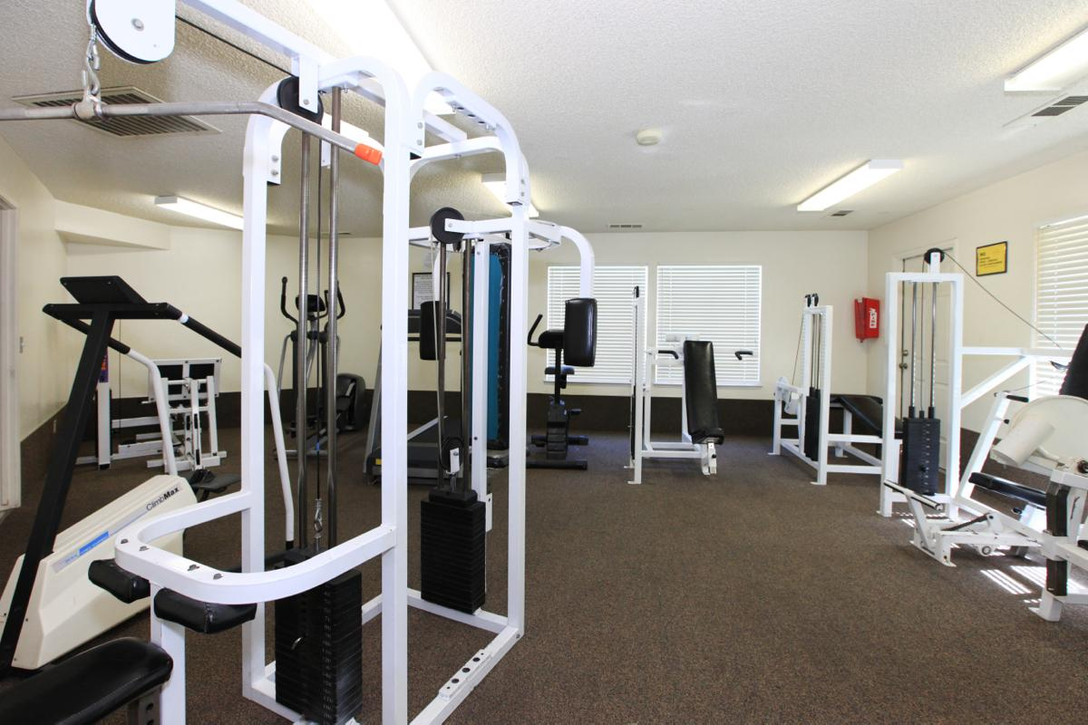 This is the fitness center at Valley View Apartment Homes