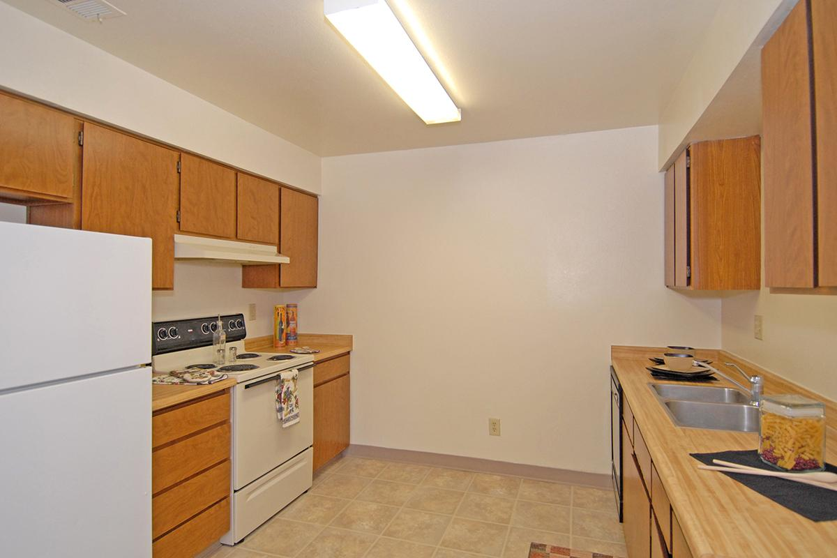 This is the kitchen at Valley View Apartment Homes