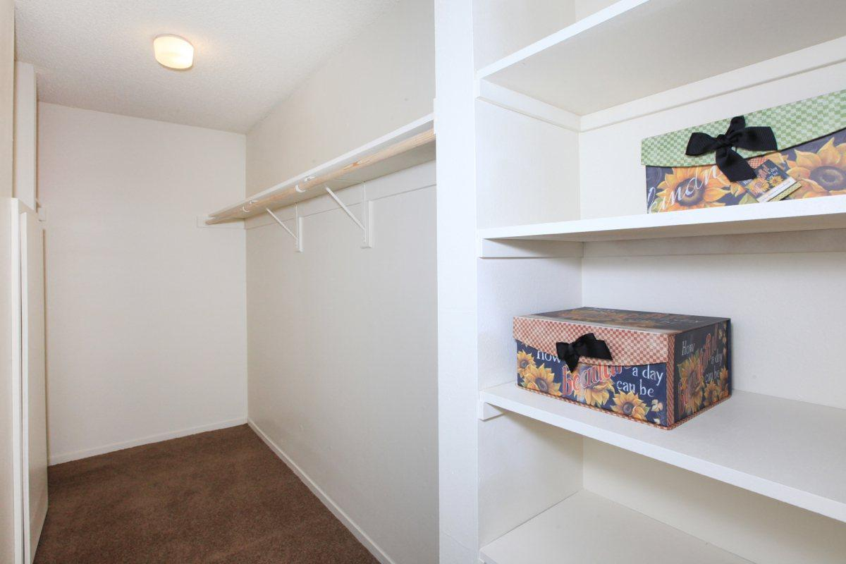 This is the walk in closet at Valley View Apartment Homes