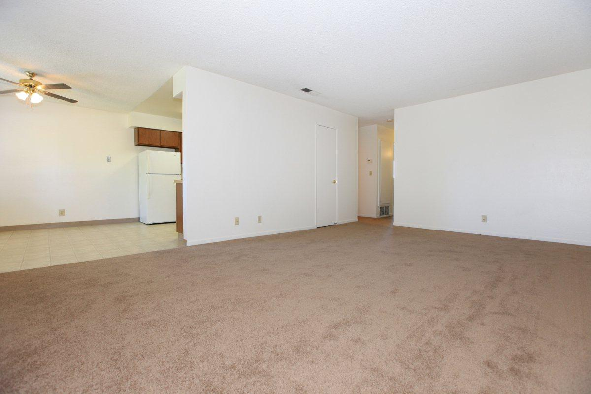 This is the living area at Valley View Apartment Homes