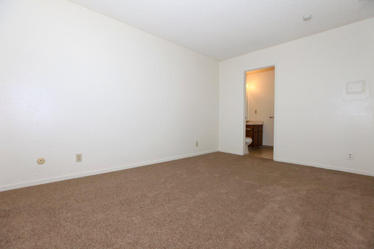This is the bedroom at Valley View Apartment Homes