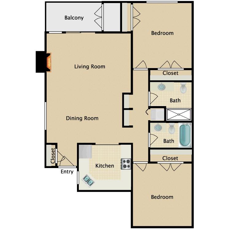 Floor plan image of Driftwood