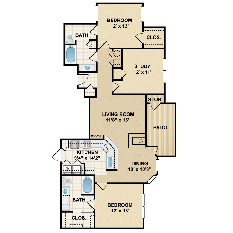 Floor plan image of Somerset