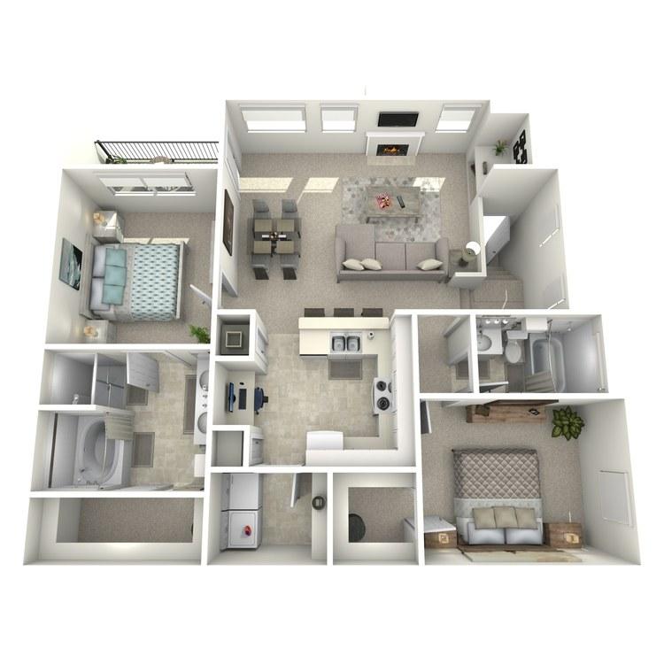 Floor plan image of Picasso - Upper