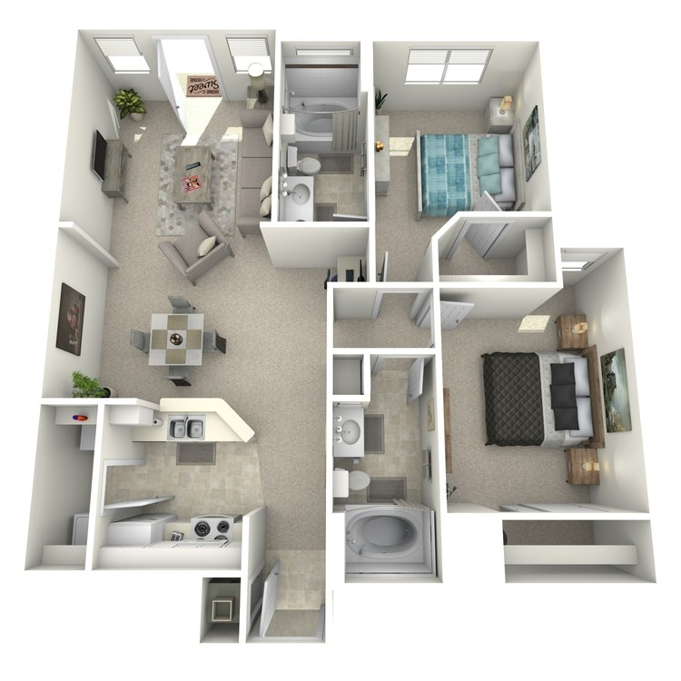 Floor plan image of Cezanne - Lower