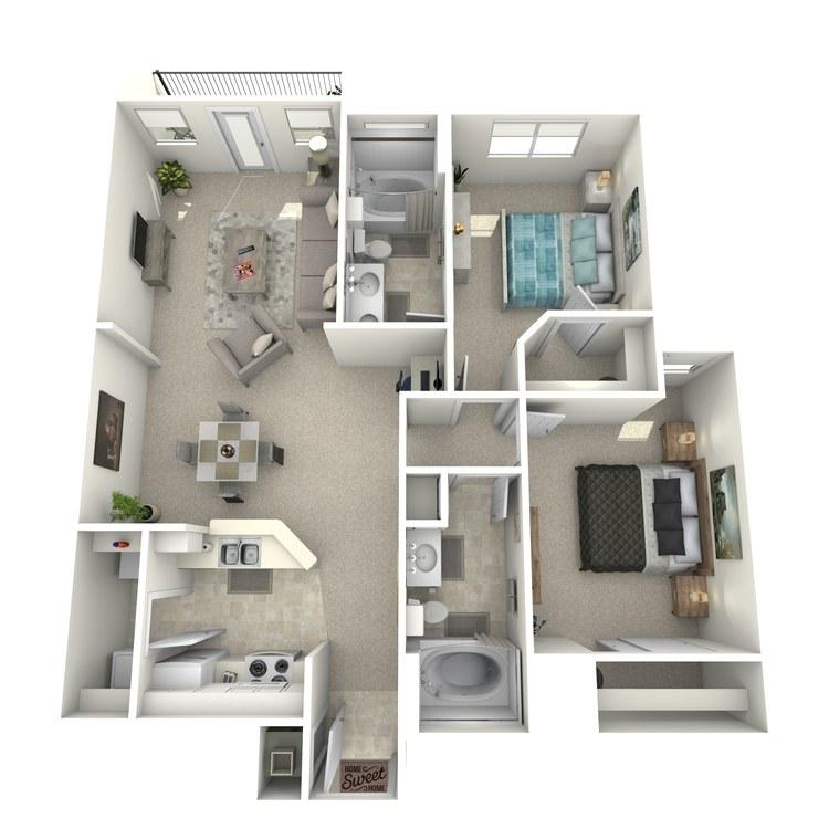 Floor plan image of Cezanne - Upper