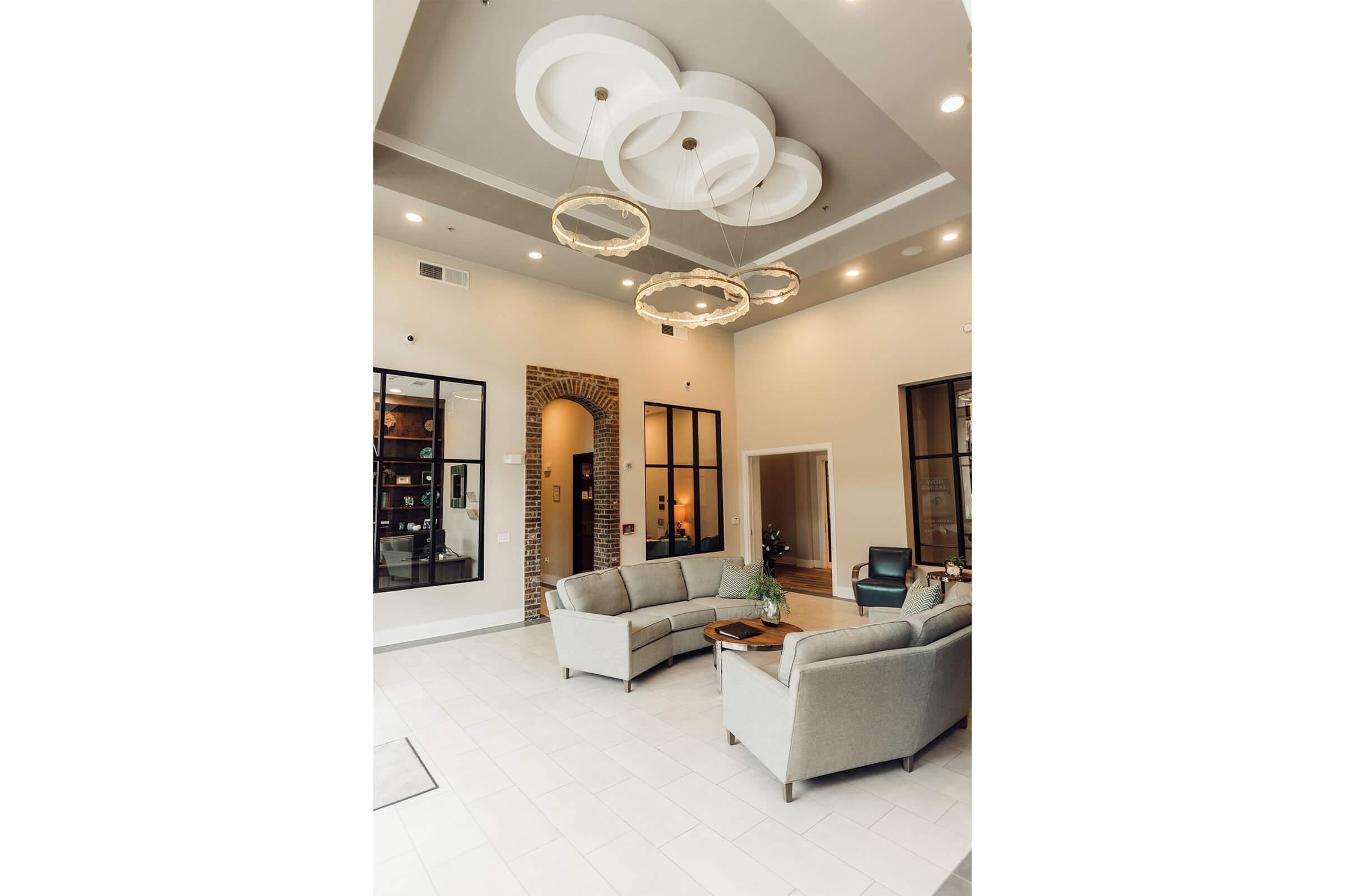 white furniture in a room