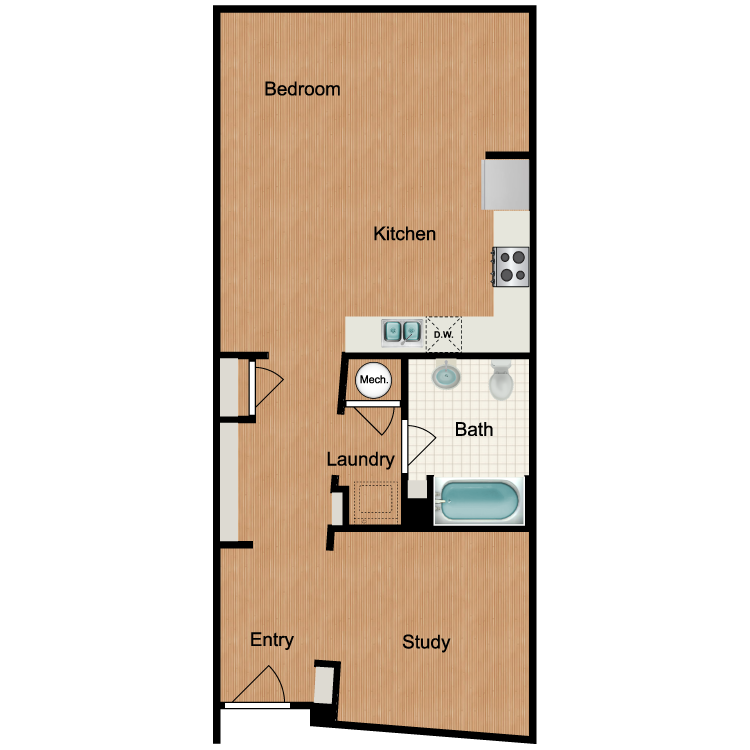 Floor plan image of Mosaic - Studio