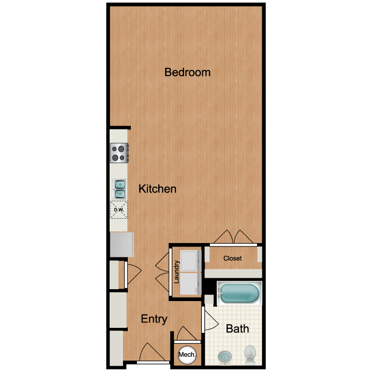 Floor plan image of Ovation - Studio