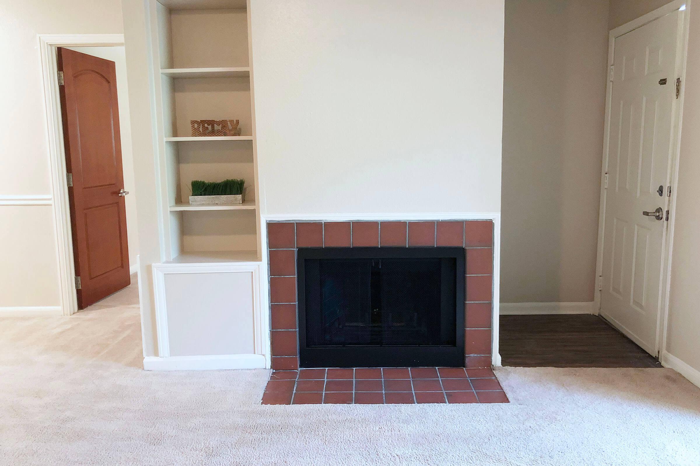 an empty brick room