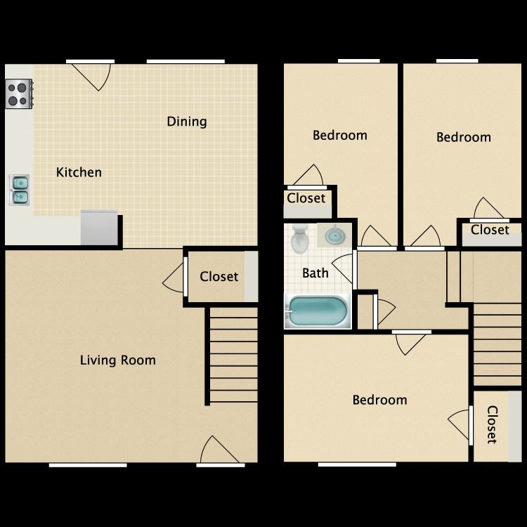 Floor plan image of 3 Bed
