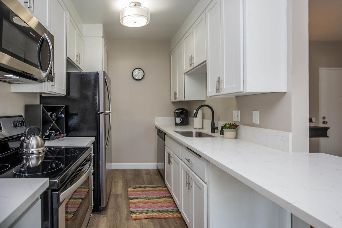 Fully-equipped kitchen at 720 Louise