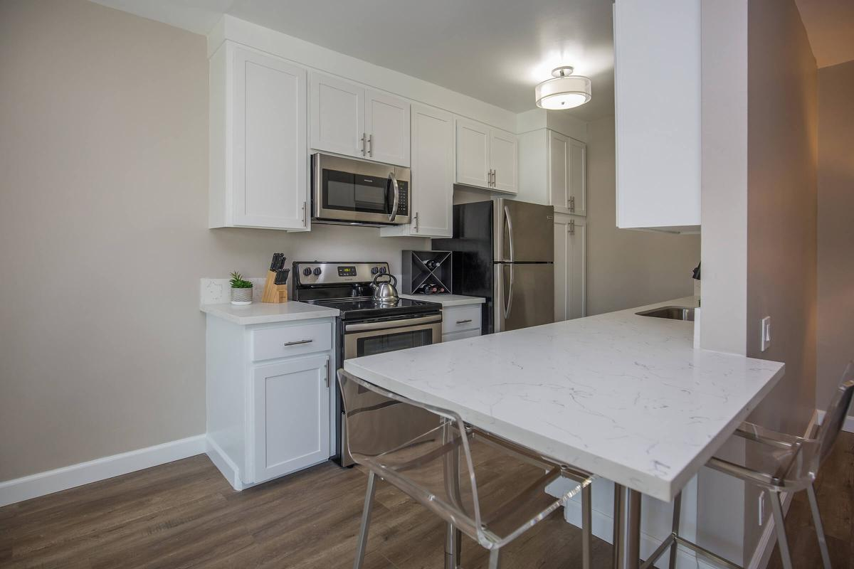 Plenty of kitchen counter space at 720 Louise