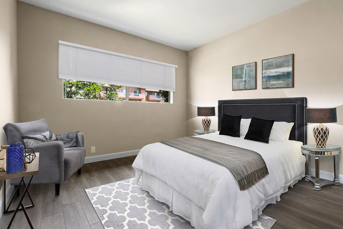 Comfortable bedrooms with a view at 720 Louise in Glendale, CA
