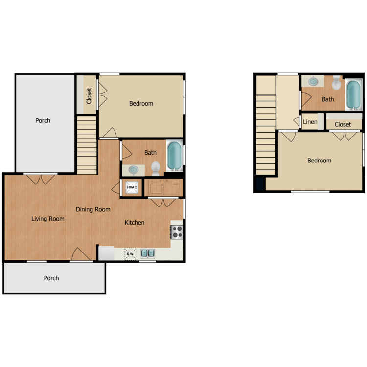 2Ba floor plan image