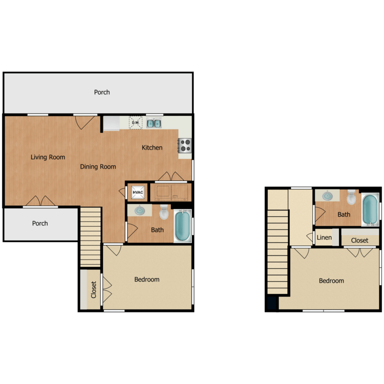 2Bb floor plan image