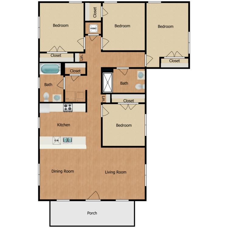 Floor plan image of 4B