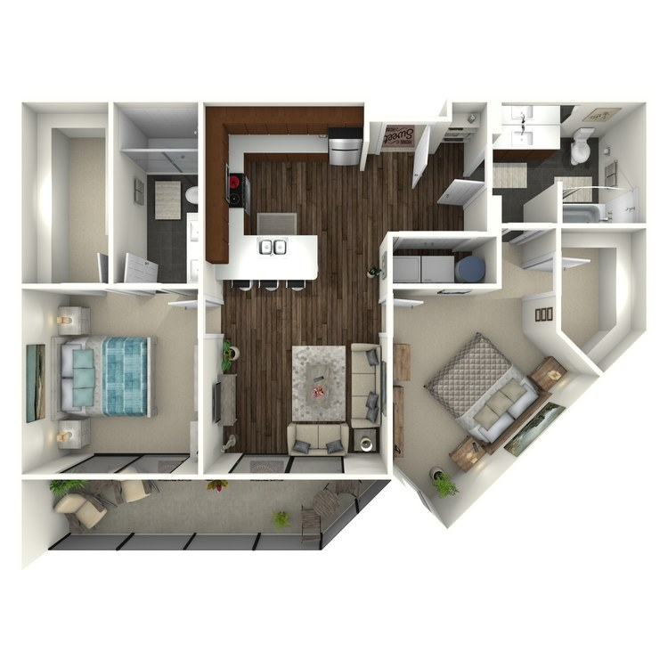 Floor plan image of 2B2(A) Uptown