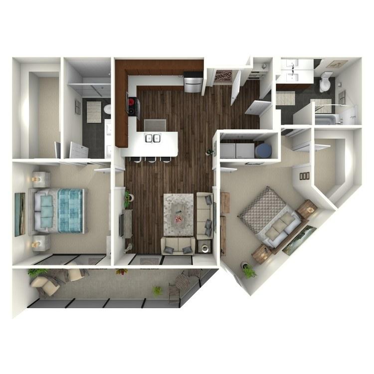 Floor plan image of 2B2(A) Uptown