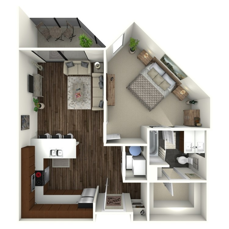 Floor plan image of 1B8 Midtown Select