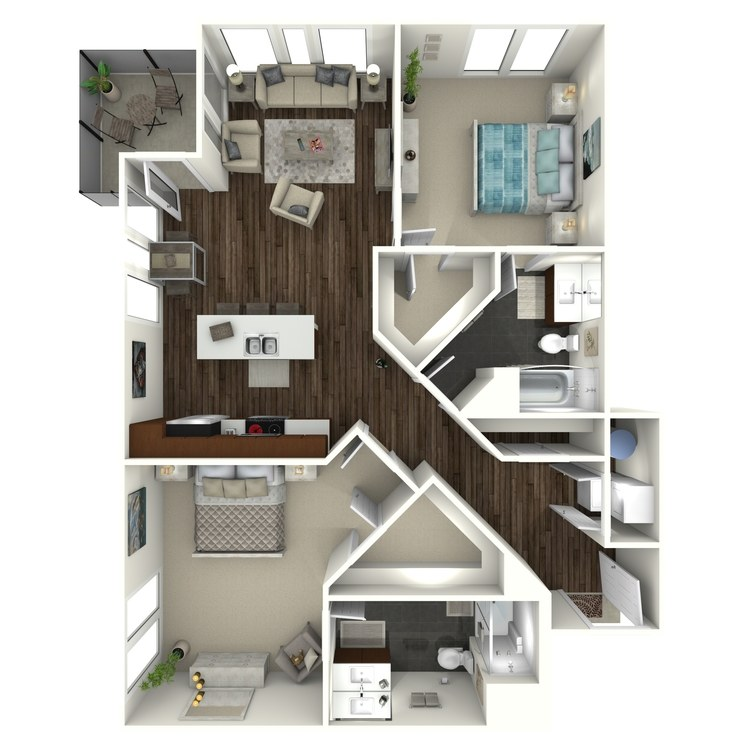 Floor plan image of 2B5 Uptown