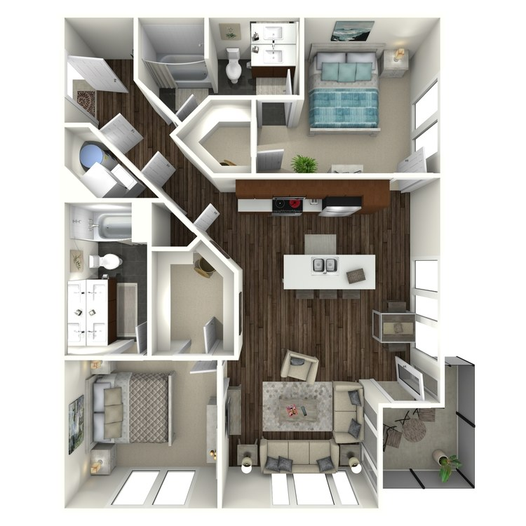 Floor plan image of 2B4 Uptown