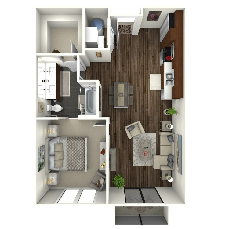 Floor plan image of 1B3 Midtown Select