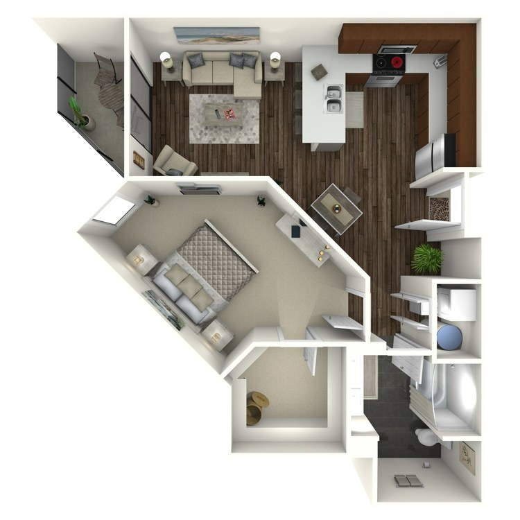 Floor plan image of 1B7 Midtown Select