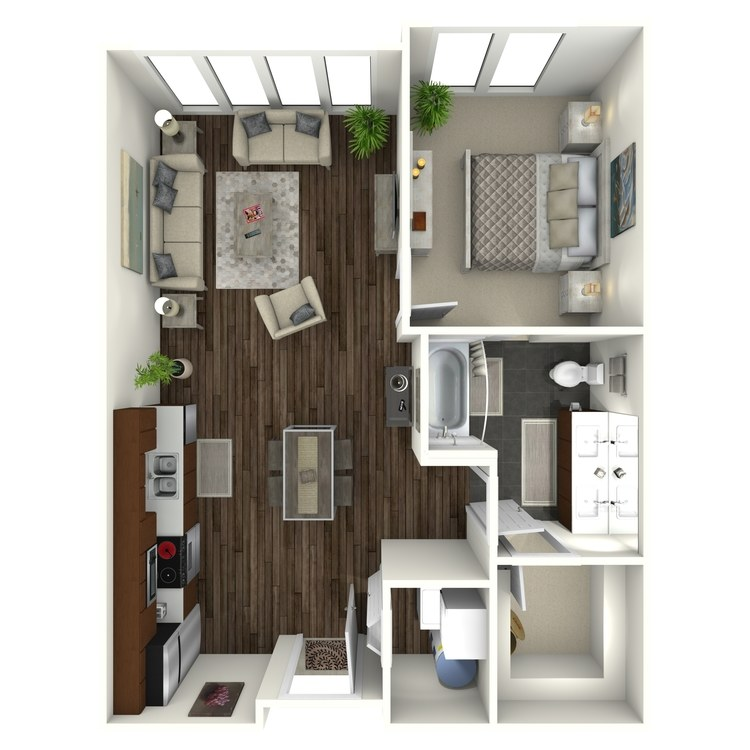 Floor plan image of 1B2 Midtown Select