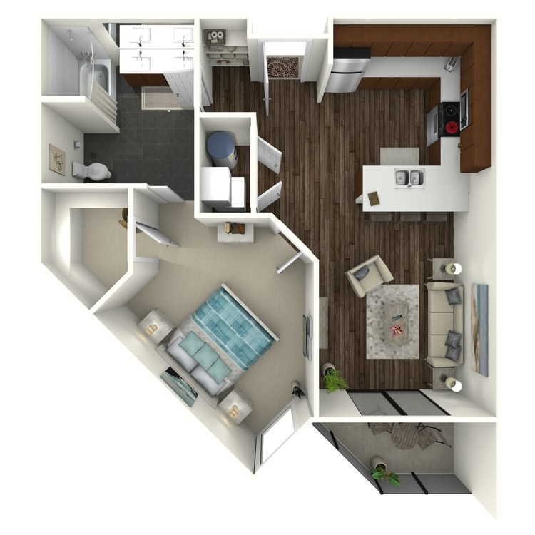 Floor plan image of 1B4 Midtown Select