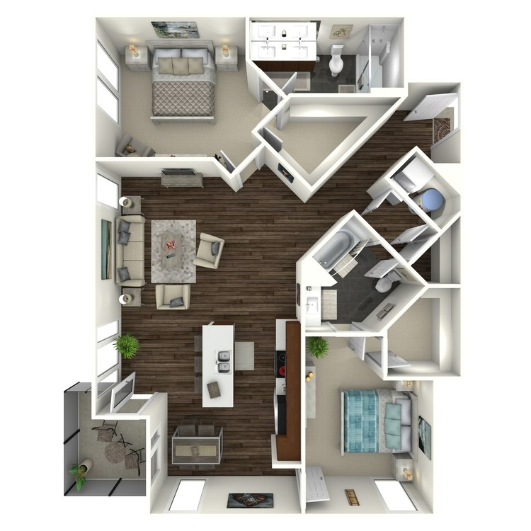 Floor plan image of 2B6 Uptown