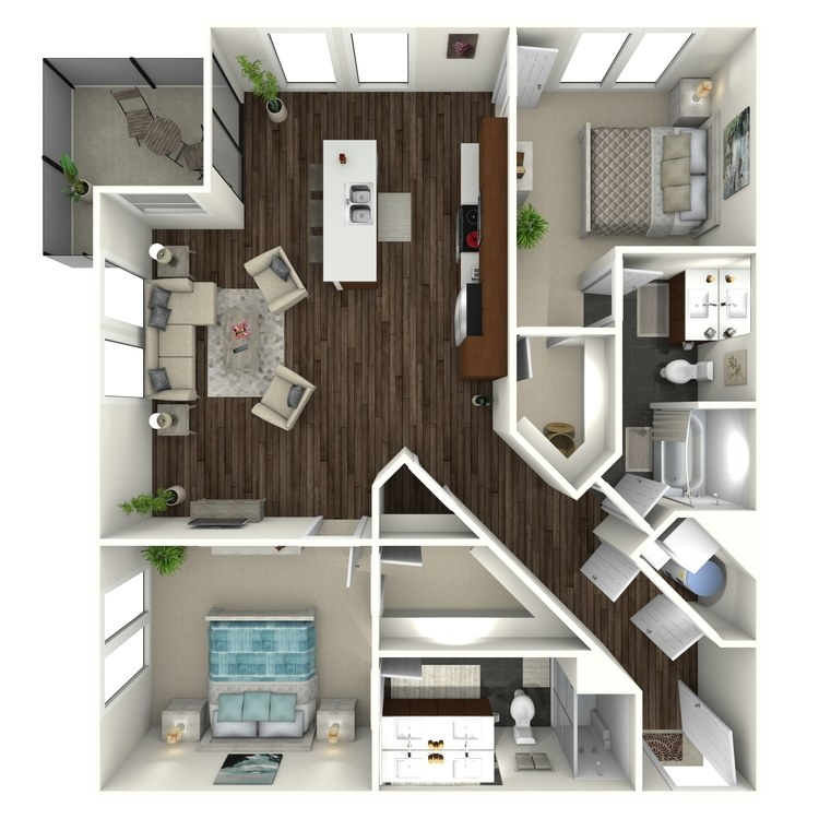 Floor plan image of 2B3 Uptown