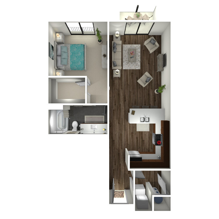 Floor plan image of 1B5 Midtown Select