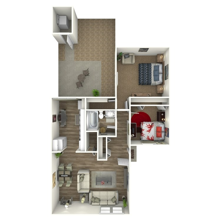 Floor plan image of 2 Bed
