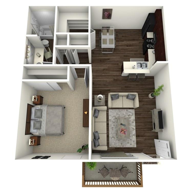 Floor plan image of Maple w/ Hardwood Floors