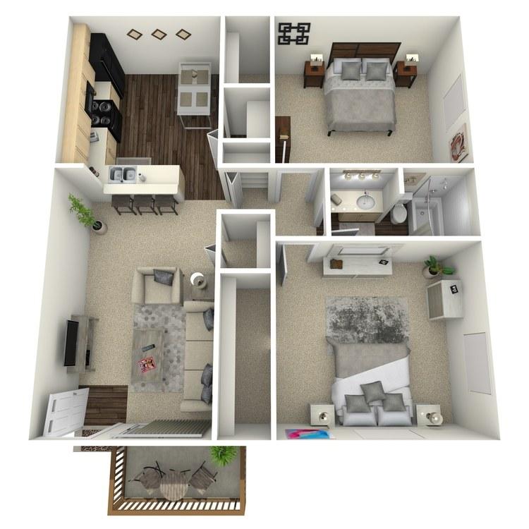 Floor plan image of Oak
