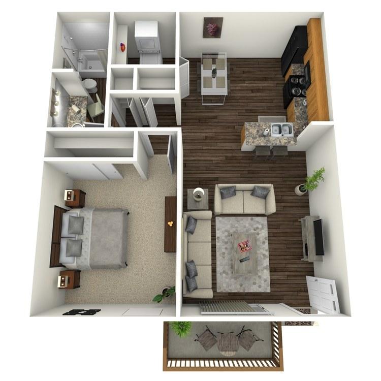 Floor plan image of Birch w/ Hardwood Floors