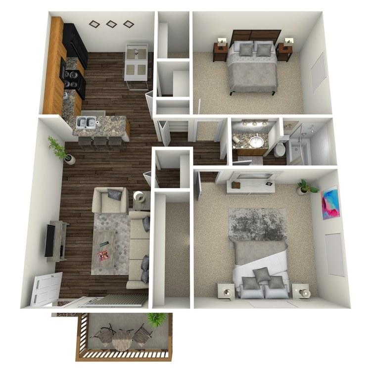 Floor plan image of Magnolia w/ Hardwood Floors