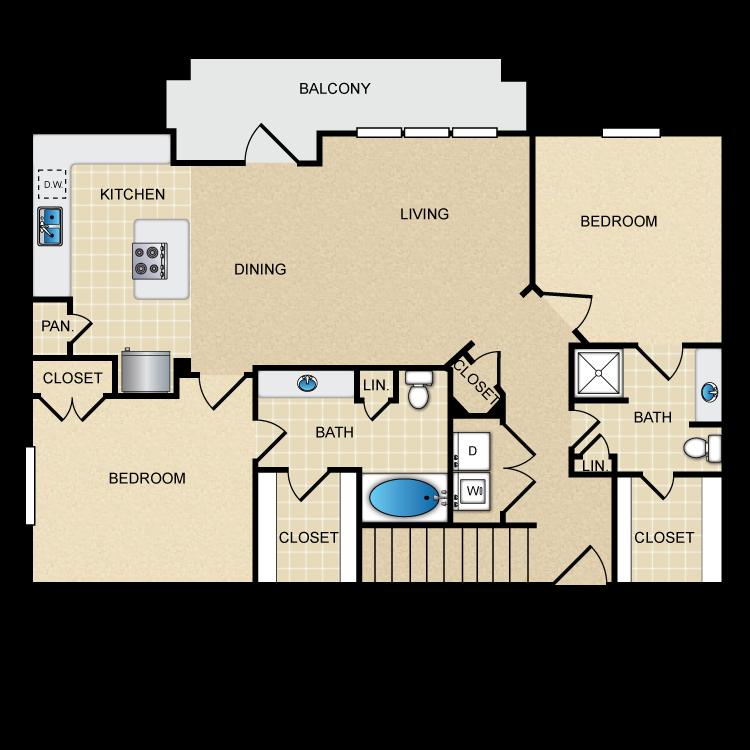Floor plan image of B2G