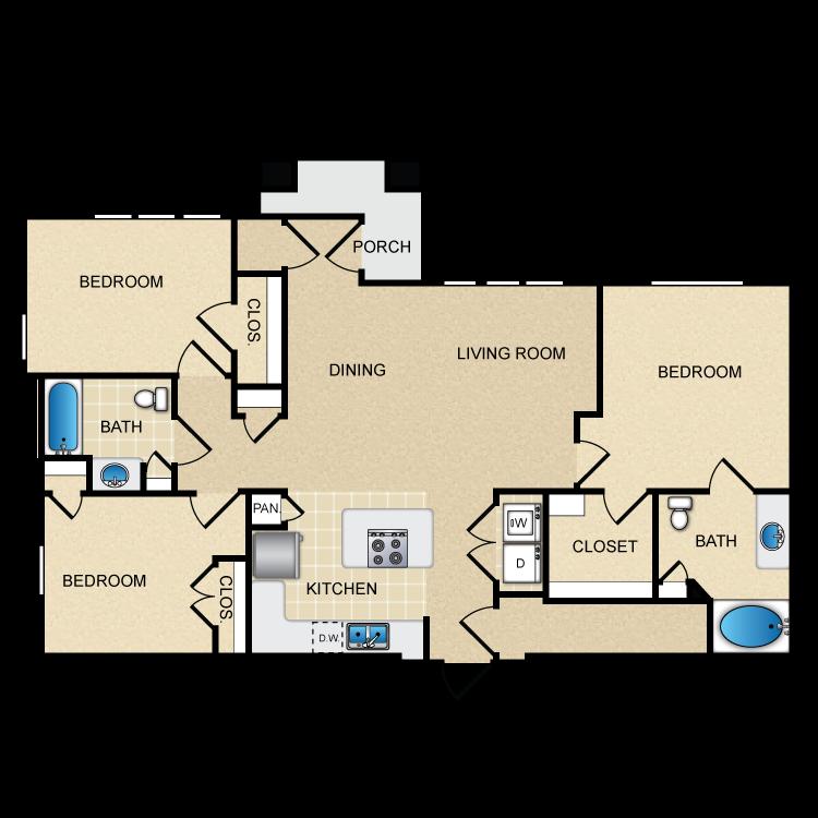 Floor plan image of C1A