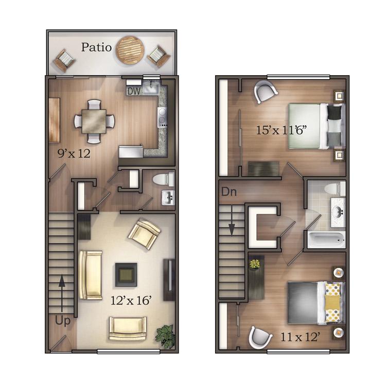 Townhouse Furnish This Floor Plan