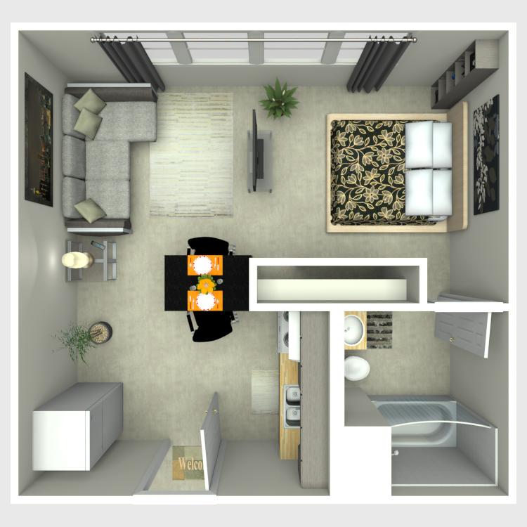 Efficiency floor plan image