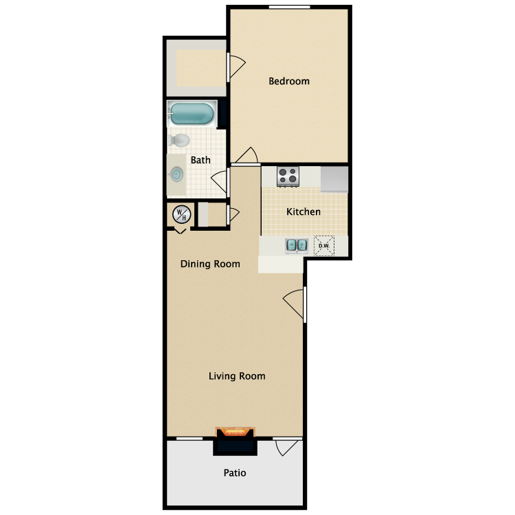 Floor plan image of Hudson with Fireplace