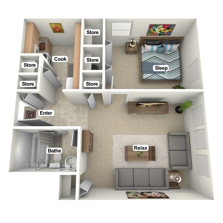 Floor plan image of Monon View