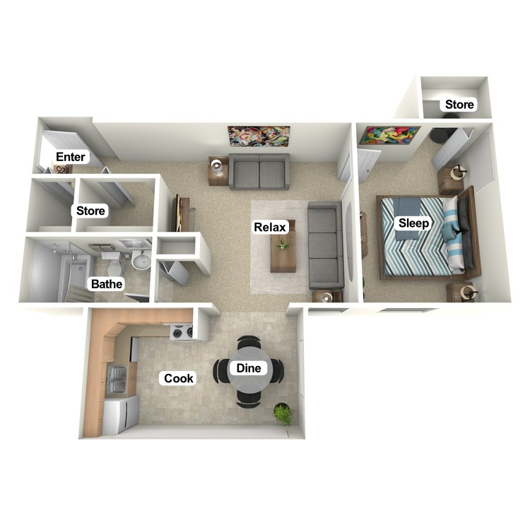 Floor plan image of Mapleton Suite