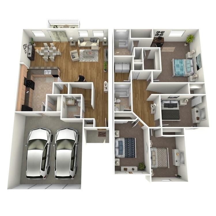 Floor plan image of Signature Townhome C
