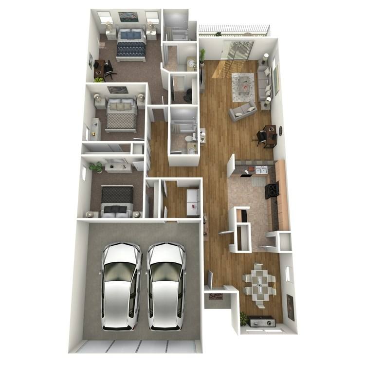 Floor plan image of Villa Three Bedroom