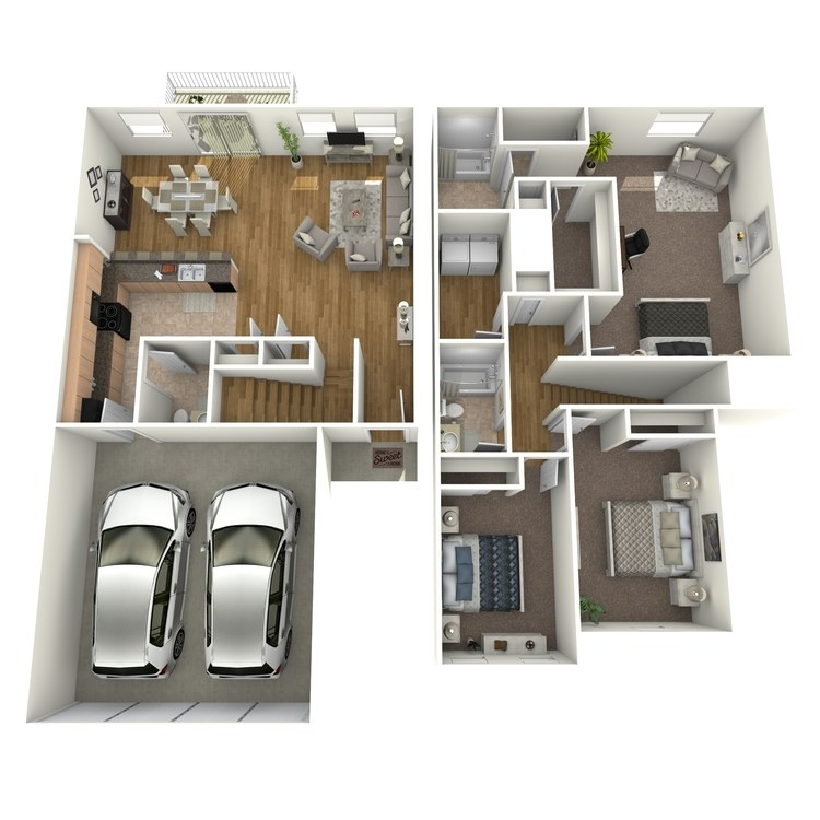 Floor plan image of Signature Townhome B