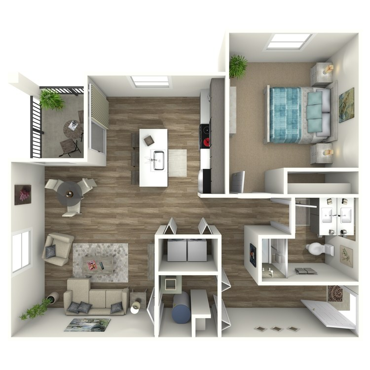 Floor plan image of 1 Bed 1 Bath C