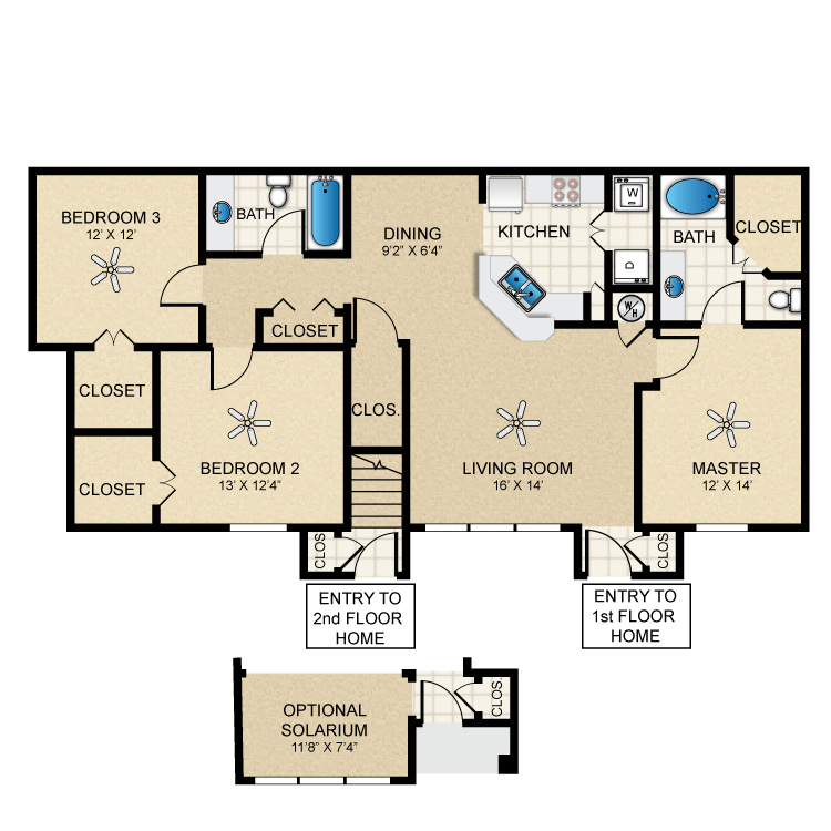 Floor plan image of Bungalow 1350